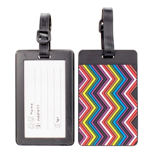 Miami CarryOn Colorful Collection Luggage Tags - Set of 2 Bag Tags