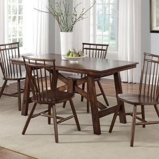 Carson Carrington Norby Tobacco 5-piece Rectangular Table Set