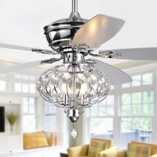 Silver Orchid Finlayson 52-inch Lighted Ceiling Fan with Reversible Blades