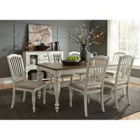 Cumberland Creek Nutmeg and White 7-piece Rectangular Table Set