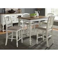 Liberty Cumberland Creek Nutmeg and White 5-piece Farmhouse-style Gathering Table Set