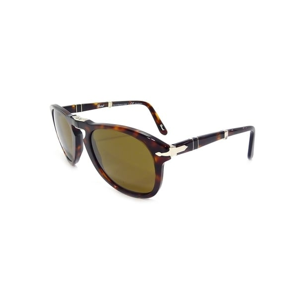 b05e5986bd Shop Persol Men s PO0714 Tortoise Folding Sunglasses - Free Shipping ...