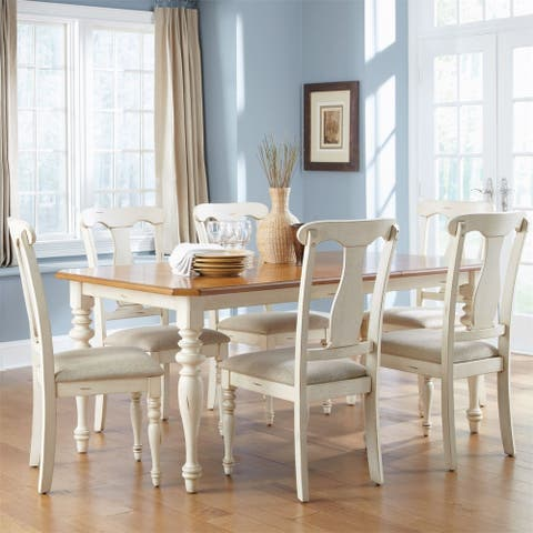 The Gray Barn Broken Bison Bisque with Natural Pine 7-piece Rectangular Table Set