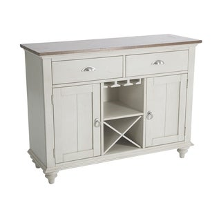 The Gray Barn Touchstone Bisque with Natural Pine Buffet