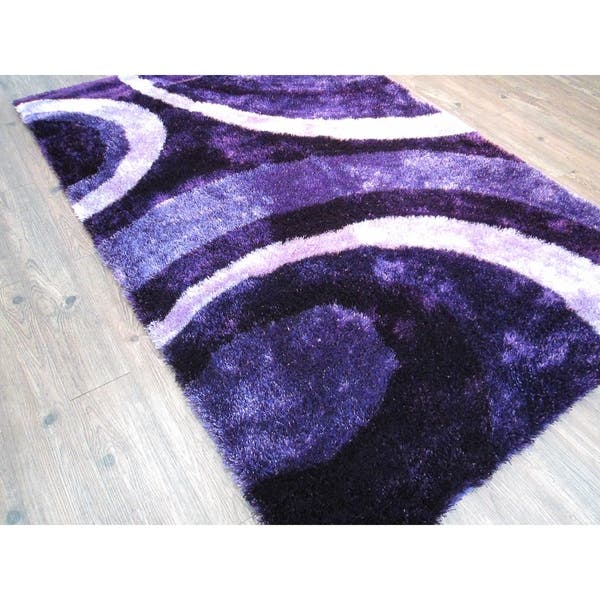 Purple Modern Area Rug 5x7 5 X 7 Overstock 25994433