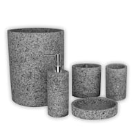 Austin Horn Classics Stoneville Black/Grey Bath Accessory Collection