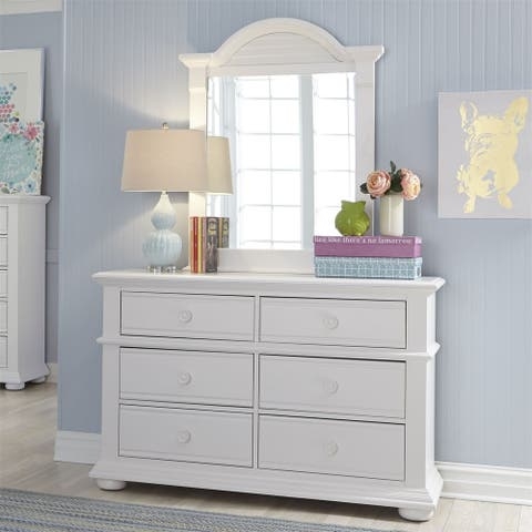 Summer House Oyster White Small Mirror