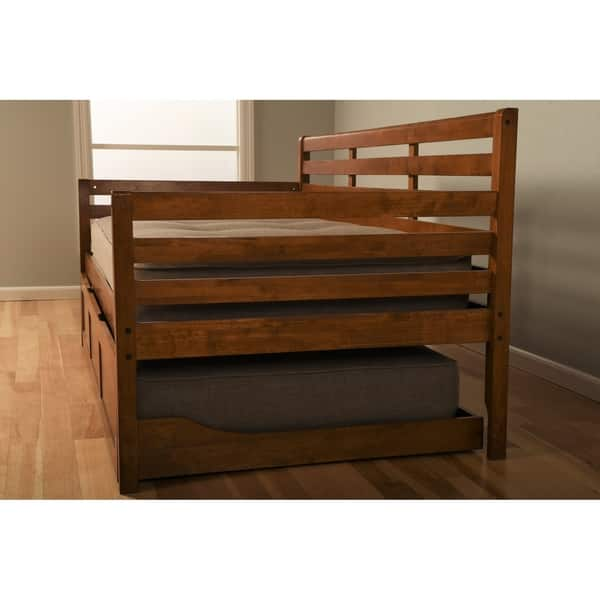 Shop Copper Grove Kutaisi Daybed Trundle Bed With Mattresses Included Overstock 25995287