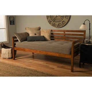 Copper Grove Kutaisi Daybed with Linen Stone Mattress