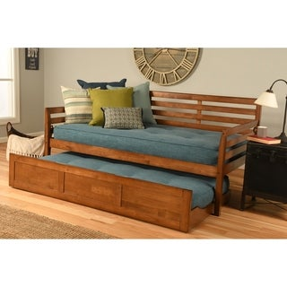 Link to Copper Grove Kutaisi Daybed with Trundle and Linen Aqua Mattresses Similar Items in Bedroom Furniture
