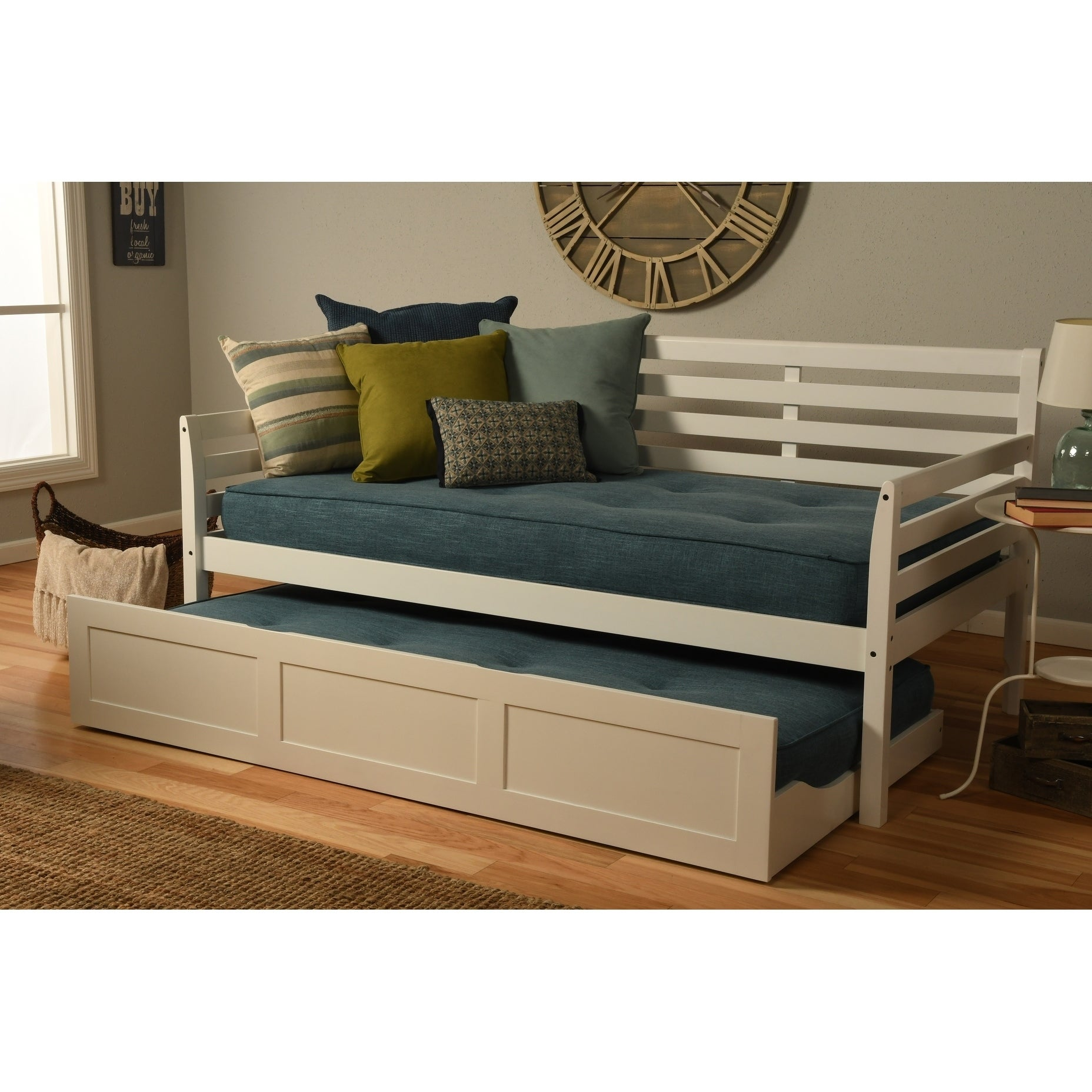 - Shop Copper Grove Kutaisi Daybed With Trundle And Linen Aqua