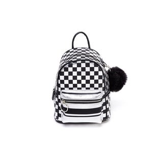Like Dreams Vegan Leather Checkered Backpack