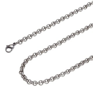 Stainless Steel 24-inch 5.0mm Rolo Chain Necklace