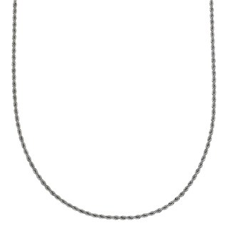 Stainless Steel 20-inch 2.3mm Rope Chain Necklace
