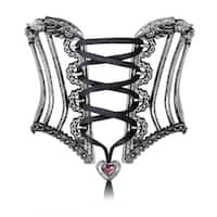 Alchemy Gothic Elastic and Adjustable Tightlace Corset Bangle - One Size - N/A