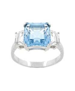 Glitzy Rocks Sterling Silver Sky Blue Topaz Ring