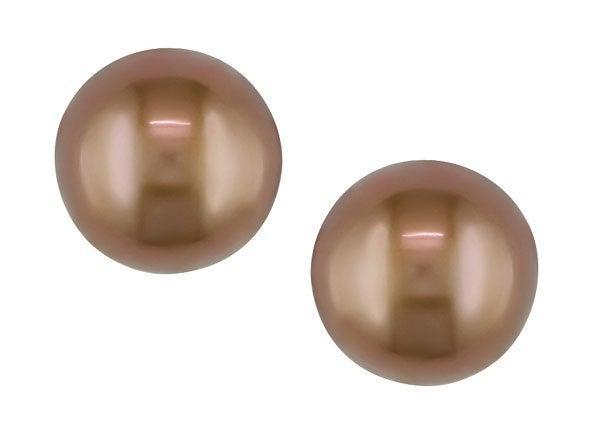 Miadora 14k Gold Brown Cultured Freshwater Pearl Earrings (8-8.5mm)