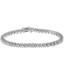 Simon Frank 14k White Gold Overlay CZ Tennis Bracelet