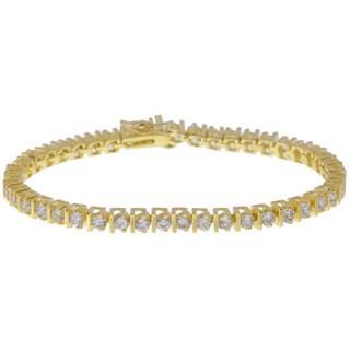 Simon Frank Gold Overlay CZ Diamoness Tennis Bracelet