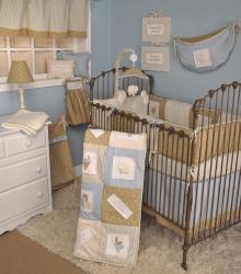 Cotton Tale Heaven Sent Boy 4 Piece Crib Bedding Set