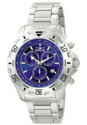 Invicta Men's Invicta II Blue Dial Steel Chronograph Watch - Thumbnail 2