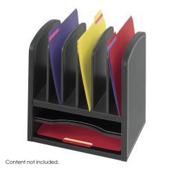 Safco Faux Leather 2-shelf Desk Organizer