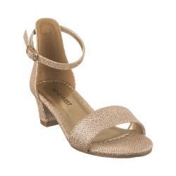 Girls' Nine West Kids Eevah Ankle Strap Sandal Gold Metallic Mesh (5 options available)