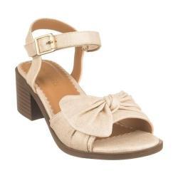 Girls' Nine West Kids Keirah Ankle Strap Sandal Gold Metallic Linen (More options available)