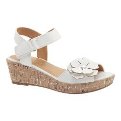 Girls' Nine West Kids Nickey Quarter Strap Sandal White Smooth (More options available)