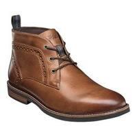 Men's Nunn Bush Ozark Plain Toe Chukka Boot Tan Chamois Leather