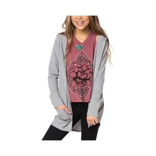 ae315a4a5370 Shop Girls' O'Neill Blizzard Cardigan Sweater Zinc - Free Shipping On  Orders Over $45 - Overstock - 22206027