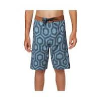 Boys' O'Neill Hyperfreak Wrenched Boardshort Dust Blue