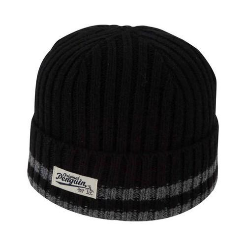 wholesale dealer e74cd 1cdca Shop Men s Original Penguin Chunky Knit Watchcap Black - Free Shipping On  Orders Over  45 - Overstock - 22207261