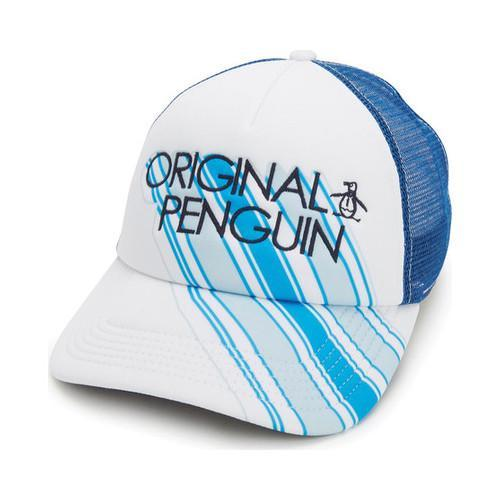 3b2ecf0a27ae8 Shop Men s Original Penguin Diagonal Stripes Trucker White - On Sale - Free  Shipping On Orders Over  45 - Overstock.com - 22207274