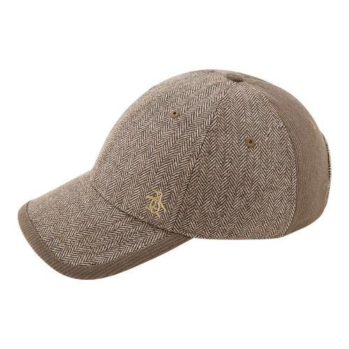 Shop Men s Original Penguin Herringbone Baseball Cap Brown - Free Shipping  On Orders Over  45 - Overstock.com - 22207285 b7fe6801089
