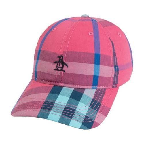 9ac56ff48a4 Shop Men's Original Penguin Large Check Baseball Cap Fuchsia - Free  Shipping On Orders Over $45 - Overstock - 22207293