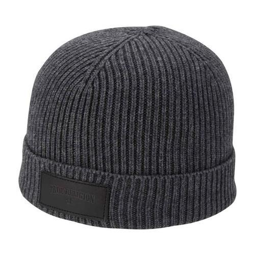 Shop Men s True Religion Ribbed Knit Watchcap Charcoal Heather - Free  Shipping Today - Overstock.com - 22207371 a09ae5384671