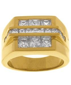 Simon Frank Gold Overlay Bridge CZ Ring