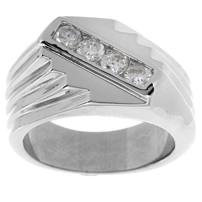 Simon Frank 14k Gold Men's CZ Ring