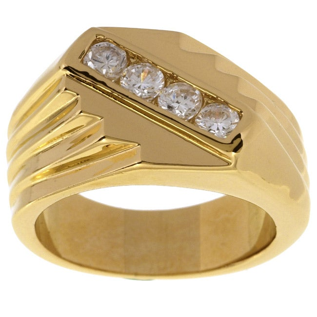 Simon frank 14k gold men 39 s saver cz ring free shipping for How can i tell if my jewelry is real gold
