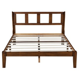 Sleeplanner 14 Inch Deluxe Wood Platform Bed Frame With Headboard