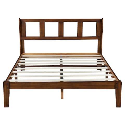 Sleeplanner 14 Inch Deluxe Wood Platform Bed Frame With Headboard