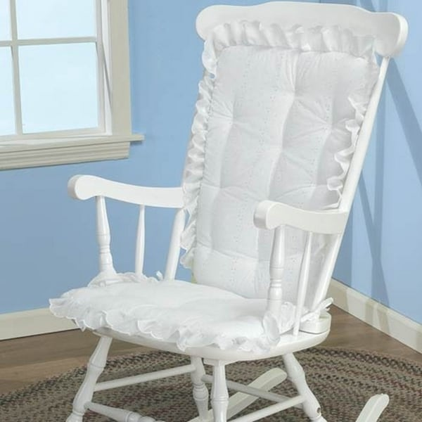 Eyelet Adult Rocking Chair Cushion