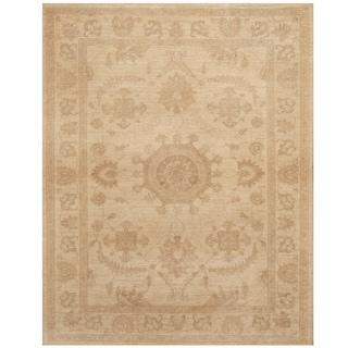 Handmade Oushak Wool Rug (Afghanistan) - 5' x 6'2