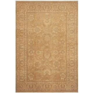 Handmade Oushak Wool Rug (Afghanistan) - 5'7 x 8'