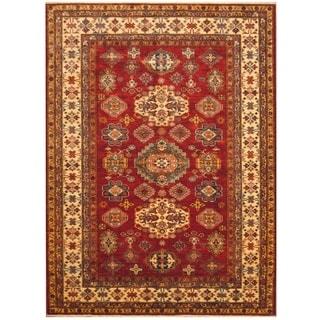 Handmade Super Kazak Wool Rug (Afghanistan) - 5'10 x 7'10
