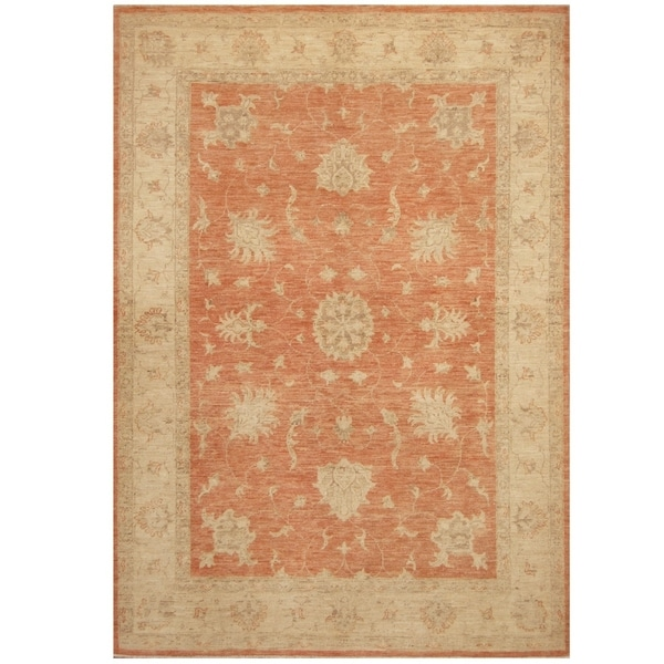 Handmade Oushak Wool Rug (Afghanistan) - 5' x 7'1