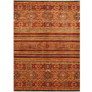 Handmade Super Kazak Wool Rug (Afghanistan) - 5'7 x 7'7