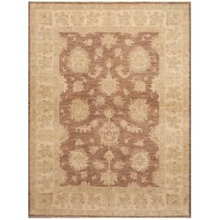 Handmade Oushak Wool Rug (Afghanistan) - 5'6 x 7'