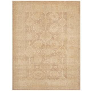 Handmade Oushak Wool Rug (Afghanistan) - 5'2 x 6'9